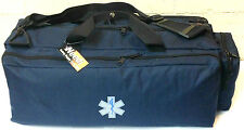 Medical EMS EMT Paramedic First Responder Oxygen Trauma Gear Bag - Navy Blue