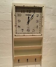 Cream Vintage Chic Loft Retro Wall Clock Hook Letter Rack Shabby Kitchen Country