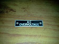 New Voltage (Gen, Bat, Bus) placard