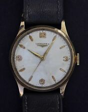 VERY RARE 9CT GOLD VINTAGE LONGINES 30LS 17 JEWEL SWISS MADE HAND WIND WATCH