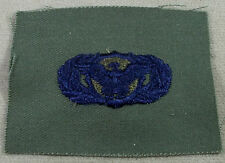 US Air Force Subdued Cloth Basic Security Police Obsolete Badge