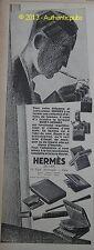 PUBLICITE DE1927 HERMES SELLIER BRIQUET BENEY ARTICLES FUMEURS FRENCH AD PUB