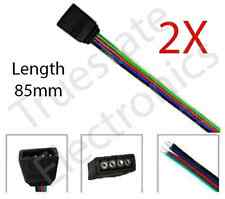 2 x 4 Pin Female Connector and Cable for SMD 5050 & 3528 LED Strip