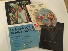 PLAYSTATION 3 PS3 STEELBOOK GTA GRAND THEFT AUTO V GTA 5 +BOX INSTRUCTIONS MAP