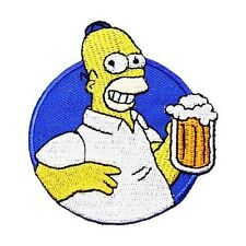 Homer Simpson - Sew Embroidery Iron On Patch Badge Clothes Fabric Applique