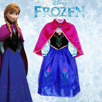 UK Frozen Princess Anna Elsa Girls Fancy Dress Costume Outfit Skirt Tutu Gift