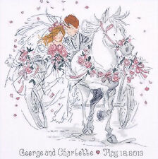 Cross Stitch Kit ~ Design Works Wedding Day Record Horse & Carriage #DW2715