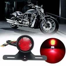 FEU NOIR MAT CIRCULAIRE STOP ARRIERE  14 LED light rear moto phare tail black