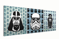 """Starwars Set of three 10"""" Mounted Square Canvas Pictures Prints"""