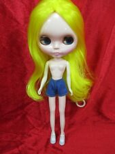 Handcrafted clothing pants shorts for Blythe Basaak doll # blue jeans