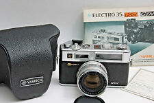 Yashica G GSN Electro 35 45mm 1.7 w/Case & Manual - Not Film Tested - USED J17A