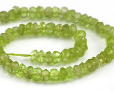 HALF STRAND OF NATURAL PERIDOT FACETED RONDELLE BEADS, 3.5 MM