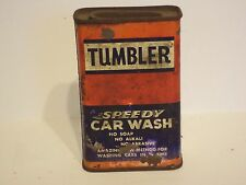 VINTAGE  ORIGINAL TUMBLER SPEEDY CAR WASH TIN AUTOMOBILE MEMORABILIA