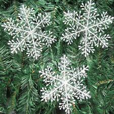 60pcs 6cm White Snow Snowflakes Embellishments Christmas Decorations Supplies