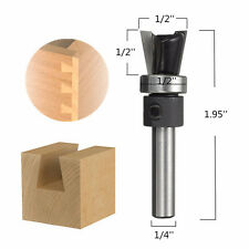 "10° 1/4"" Shank Carbide Dovetail Joint Router Bit with Bearing Woodworking Cutter"