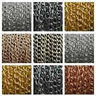 Jewellery Making Curb Chain, Fine Metal Silver Plated Bronze Gold Copper 2 or 5M