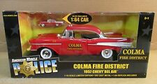 American Muscle 57 Chevy Bel Air Colma Fire District Police 2 Cars 1:18 and 1:64