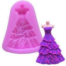 Wedding Dress Silicone Fondant Cake Mold Chocolate Baking Sugarcraft Icing Mould