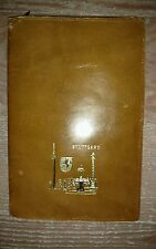 Vintage Leather Passport Wallet Stuttgart Emblem Germany