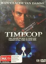 Sci-Fi Action Jean-Claude Van Damme Timecop Region 4 DVD  Good Condition