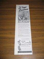 1957 Print Ad Big Game Hunting in Colorado Sportsmans Hospitality