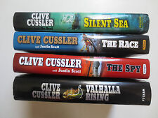 Lot 4 Clive Cussler- The Race, The Spy, The Silent Sea, Valhalla (Hardcover)