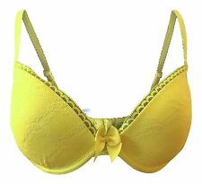 Passionata By Chantelle Let's Play Push Up bra 32D Neon Yellow