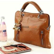 Women Leather Handbag Satchel Shoulder Bags Messenger Hobo Bag Ladies Tote Brown