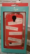 NEW, Kate Spade, Samsung Galaxy Phone Case Hard Shell w/ Fortune Sayings