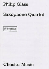 Philip Glass Saxophone Quartet Parts Learn Play Sax Classical Sheet Music Book
