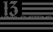 "5"" American Flag Decal Sticker USA Lucky 13 Number 13 Vinyl Tactical"