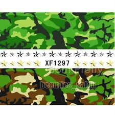 Nail Art Water Decals Transfer Stickers Quirky Camouflage Pattern Tips XF1297