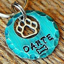 Dog Tag Cat Pet ID Tags -personalized Custom Pet Tags Dog Tags Teal Dog Tag
