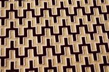 """Burgundy White Pattern Velvet Woven Upholstery Suede Fabric 55""""W Robert Allen"""