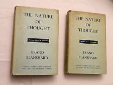 1955 2 Vol, The Nature of Thought by Brand Blanshard, Allen/Unwin HBw/dj 3rd Imp