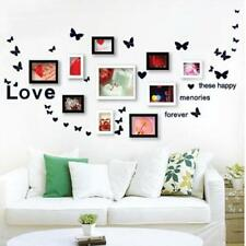 Family Love Birds Photo Frame Quotes  Tree Wall Stickers Wall Art Decals Decors