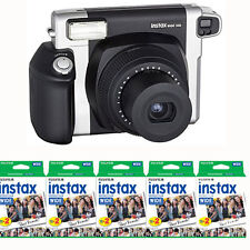 Fujifilm INSTAX 300 Wide Instant Film (Black) Camera + 100 Instax Wide Prints