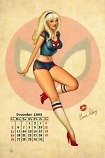 Nathan Szerdy SIGNED Marvel Comic Spiderman Art Pinup Print ~ Spider Gwen Stacy