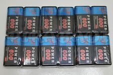 12 PILES ACCUS RECHARGEABLE 9V Ni-Mh 600mAh 6LR61 6F22 BATTERIES FRANCE POWER