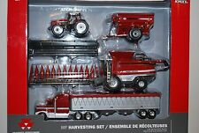 NEW! 1/64 Massey Ferguson Harvest set 9795 combine, 8270 tractor & grain cart