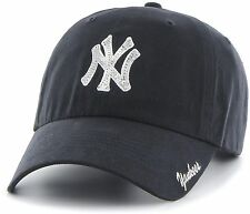 New York Yankees Women's Baseball Cap MLB Hat Sequin Adjustable Fan Memorabilia
