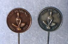 IVAN MESTROVIC famous sculptor sculpture American Indian Chicago * 2 x pin badge