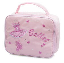 Girls Pink Nylon School Ballet Shoe Lunch Box Dance Hand Bag By Katz KB68