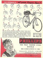 Phillips Jaguar Cycle Advert - Original 1957