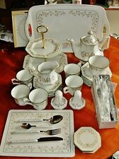 "SUPERB JOHNSON BROTHERS "" ETERNAL BEAU"" 50 PCS MATCHING TEA SET W/ ACCESSORIES"
