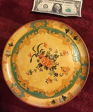 "Vintage Japanese Alcohol Proof 10 3/4"" Decorative Circular Serving Tray"
