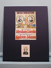 1864 - Andrew Johnson Runs for Vice- President with Abraham Lincoln & his stamp