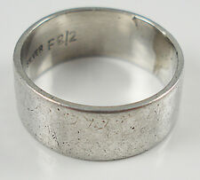 1970's Silver Wide Band Ring. No. 194