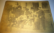 Antique Victorian American Hunting Dogs & Men Armed Old Shotguns! Cabinet Photo!