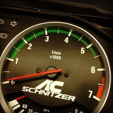 BMW E30 Alpina style tach strip (green stripes) e28 e24 325i m3 318i tachometer